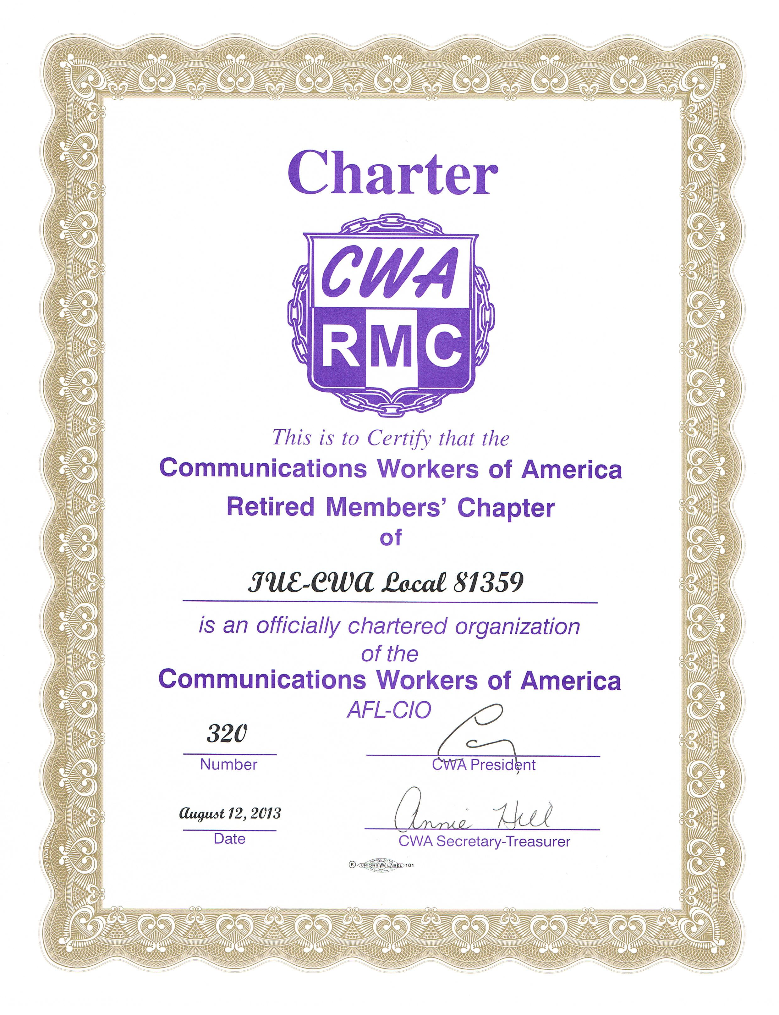 Local 81359 | CWA Retired Members Chapter-81359